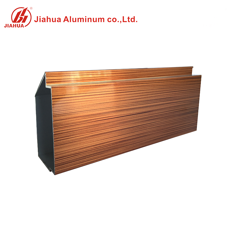 Wood Finish Aluminum Cabinet Frame Extrusion Profile for Kitchen Cabinet