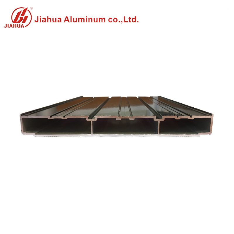 Black Anodized Commercial Aluminum Window Section Extrusion Frame for Double Glass Window