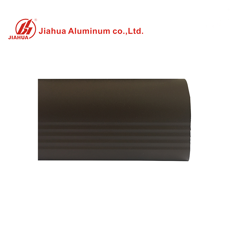 6063 Grade Matt Powder Coating Brown Aluminum Extrusion for Stair Railing Handrails