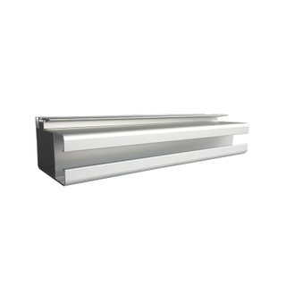 Anodized Silver Color 1.0 Thickness Aluminum Glass Sliding Window Sash Extrusion Profiles for Africa Market
