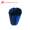 Powder Coating Blue Color China Factory Aluminium Extrusion Circular Round Heat Sink