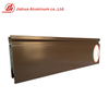 JIA HUA High Standard Brown Color 6063 T5 Aluminum Doors Windows Profiles for India Market