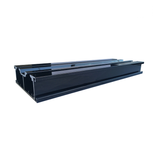 Jia Hua Black Color Aluminum Track Frame Profiles for Industrial