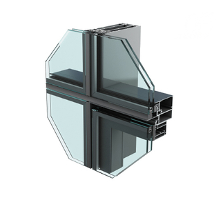 JYMQ120/130/140/150/160/180/200 Invisible Curtain Wall System for Facade