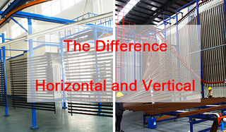 The difference between vertical spray and horizontal spray