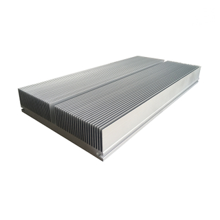 Mill Finish Large Square Industrial Aluminum Extrusion Fin Heat Sink Profiles
