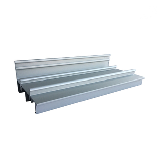 Jia Hua 6063 T5 Anodized Aluminum Doors Windows Sliding Double Track for The Sash