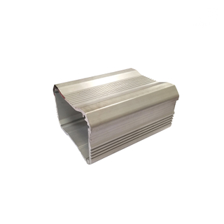 High Quality Square Anodized Silver Color Aluminum Extruded Enclose Profiles for Pcb Board