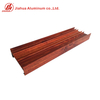 Wood Finish 6063 Aluminum Mullion Window Fix Frame Profiles Extrusion for Sliding Windows