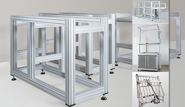 The usage of aluminum profiles on worktable
