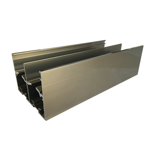 Electrophoresis Aluminum Extruded Champagne Color Top Window Frame Profiles Philippines Price Per Kg