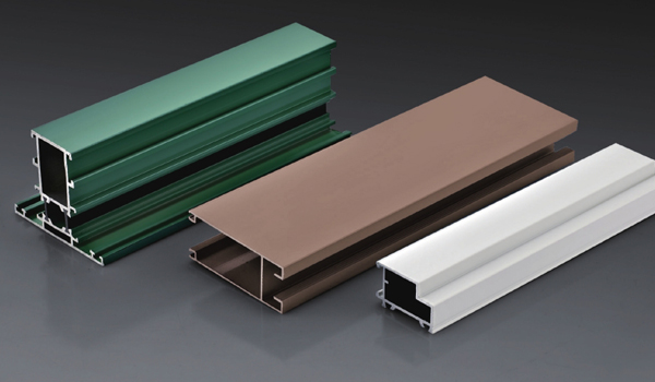 Powder coating aluminium profiles for widnows and doors